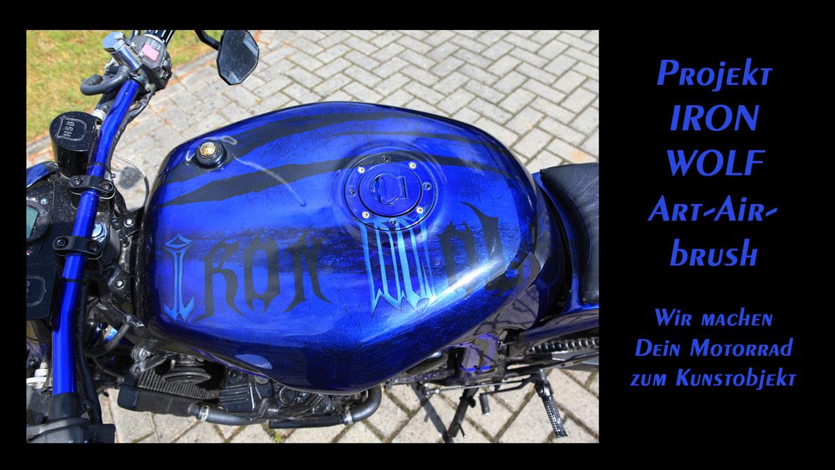 Art Airbrush - Motorrad - Iron Wolf